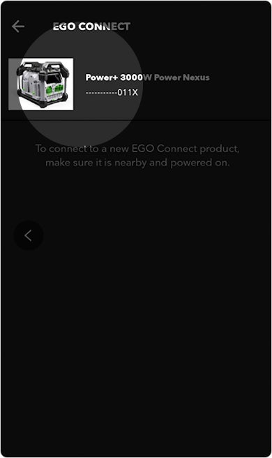 Image showing an example of a Nexus Power Station that was successfully found by the EGO POWER+ app